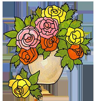 335x354 Bouquet Clipart Vase Clip Art