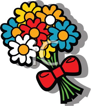 301x350 Cartoon Bouquet Of Flowers