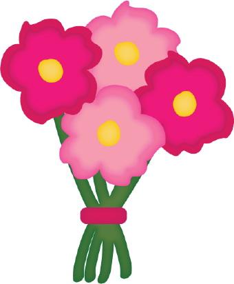 340x412 Clip Art Flowers Bouquet