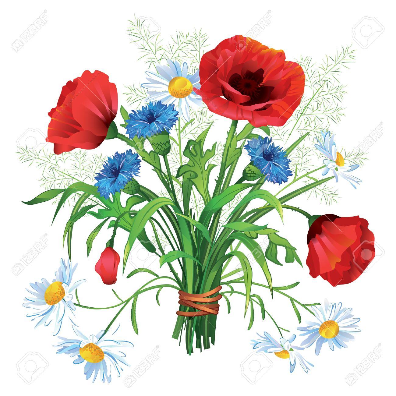 1300x1300 Wildflower Clipart Sunflower Bouquet
