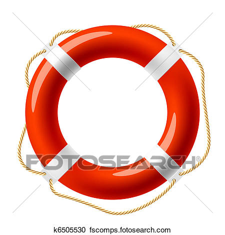 450x470 Clipart Of Red Life Buoy K6505530