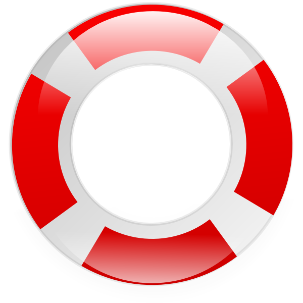 600x600 Floating Clipart Life Preserver