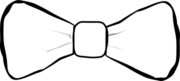 600x271 Black And White Bow Tie Clip Art Clipart