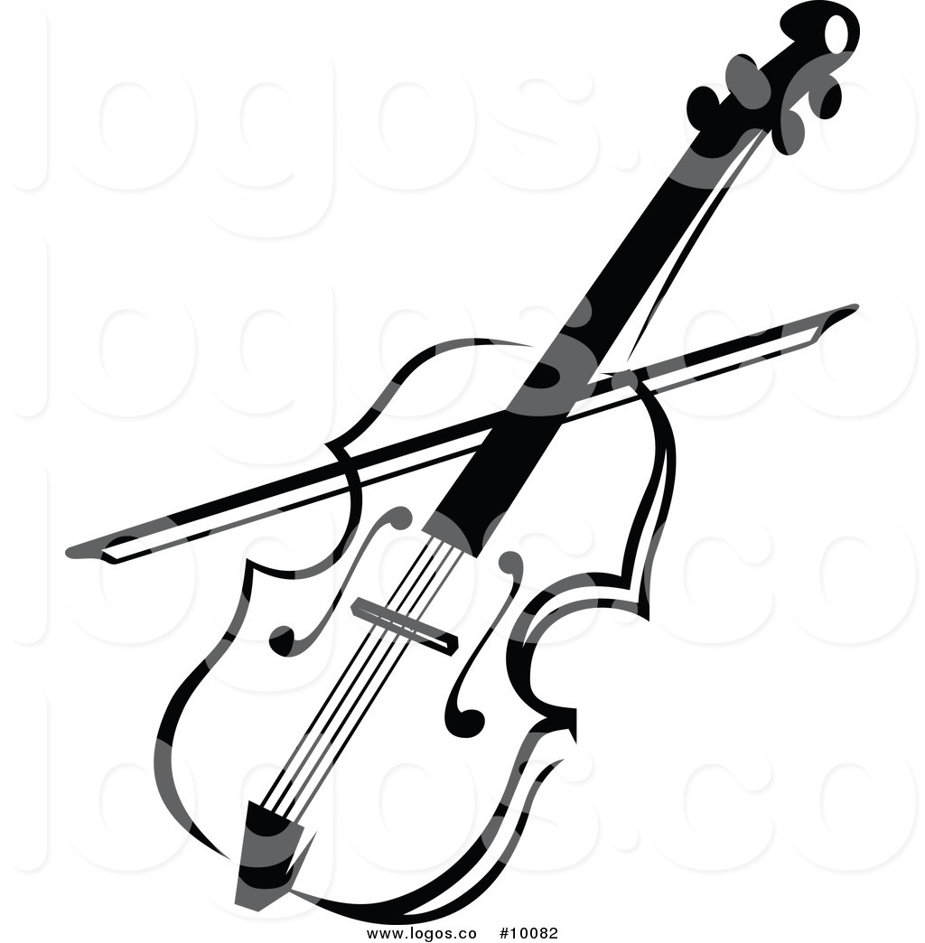 1024x1044 Royalty Free Clip Art Vector Logo Of A Black And White Viola