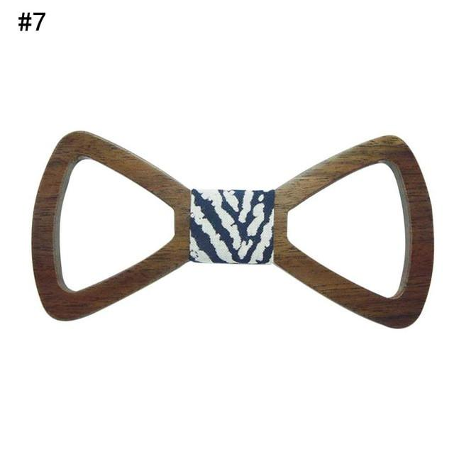 640x640 Men's Handmade Wooden Cut Out Butterfly Bow Tie Tie Up And Socks