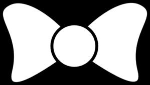 299x171 Bow Outline Bold Clip Art