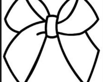340x270 Cheerleading Bow Clipart
