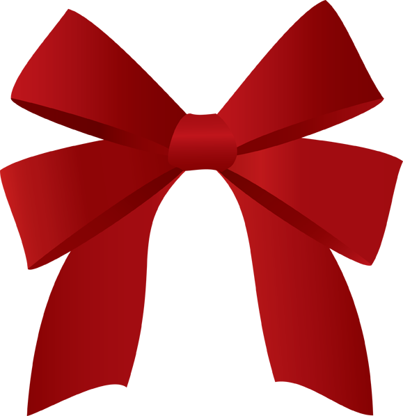 579x598 Red Christmas Bow Clipart