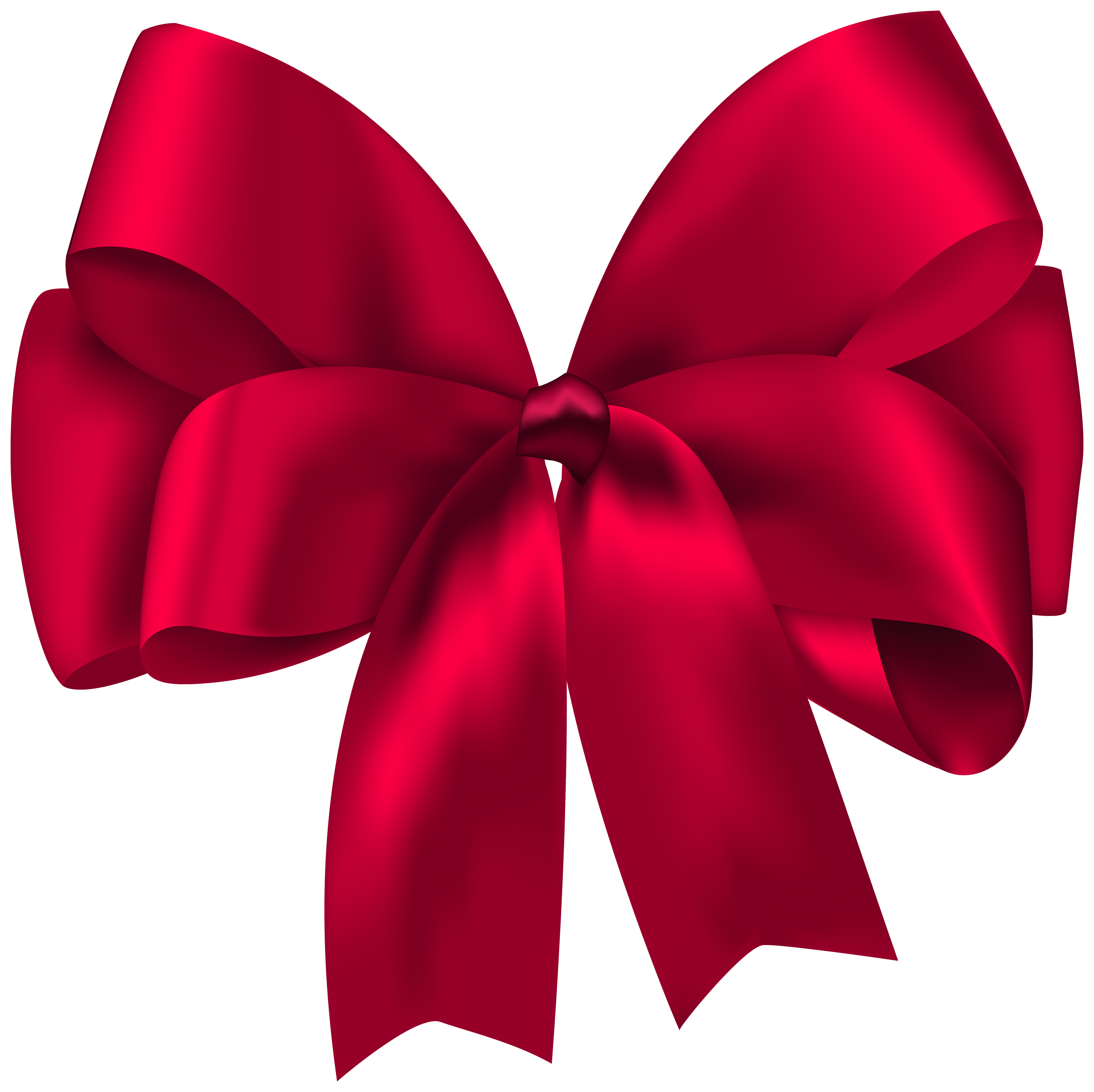 3000x2994 Beautiful Red Bow Png Clipart