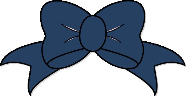 600x311 Blue Bow Clipart