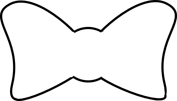 600x342 Bow Tie Clipart Outline