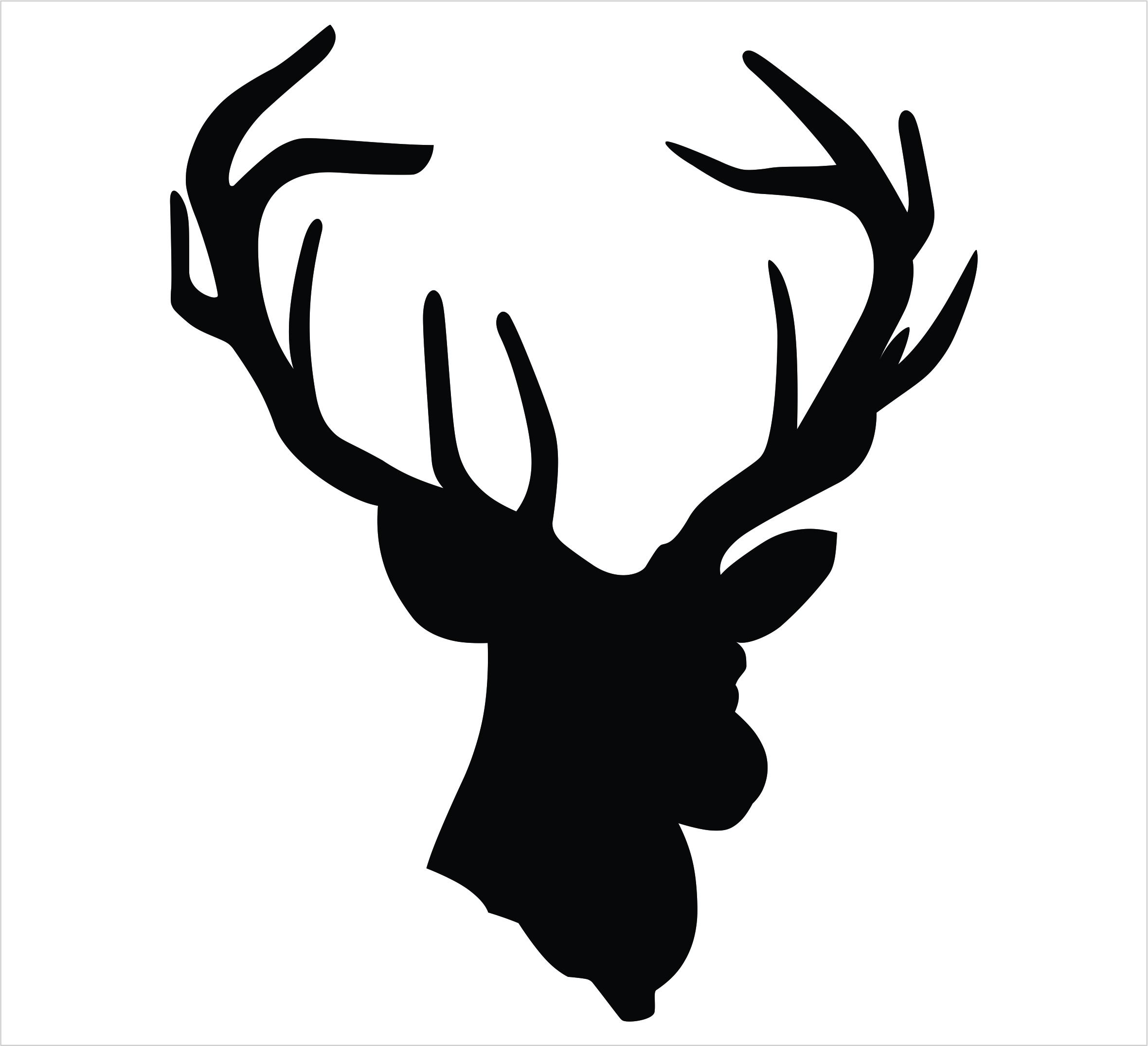 2360x2151 Reindeer Head Outline Clipart