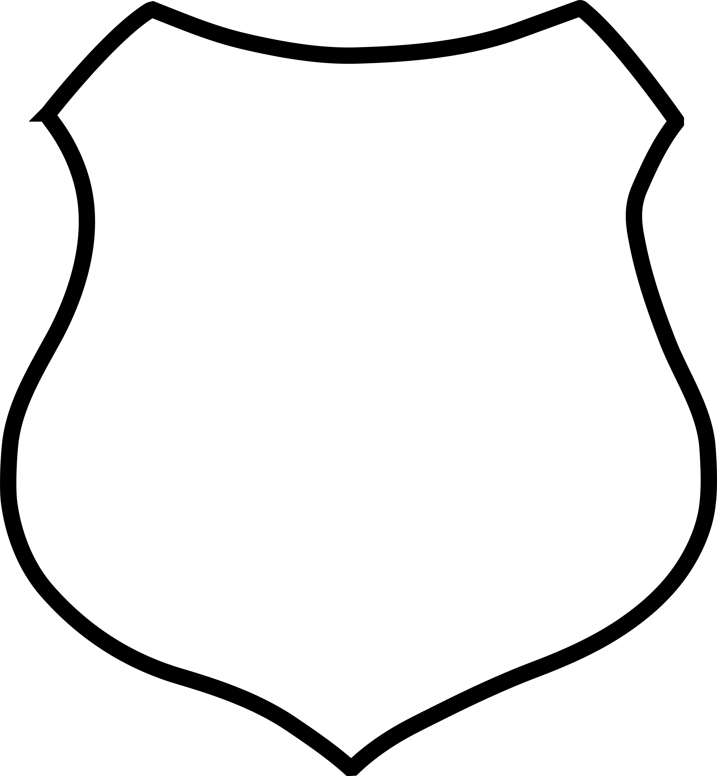 2400x2598 Blank Shield Clipart