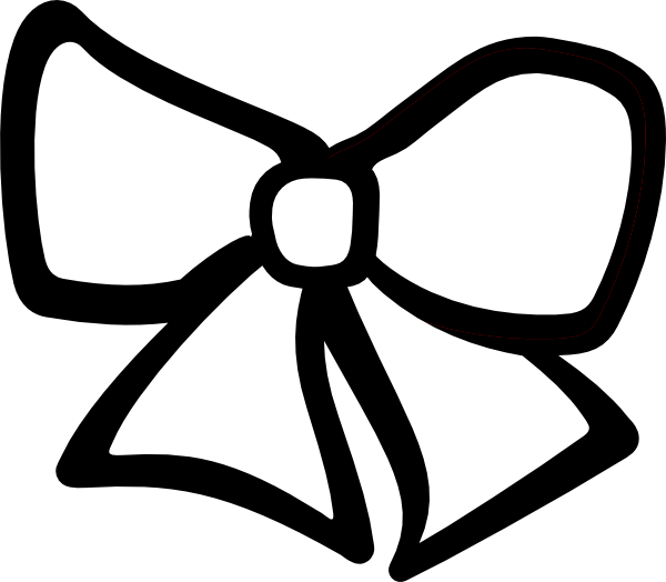600x524 Bow Clipart Black And White