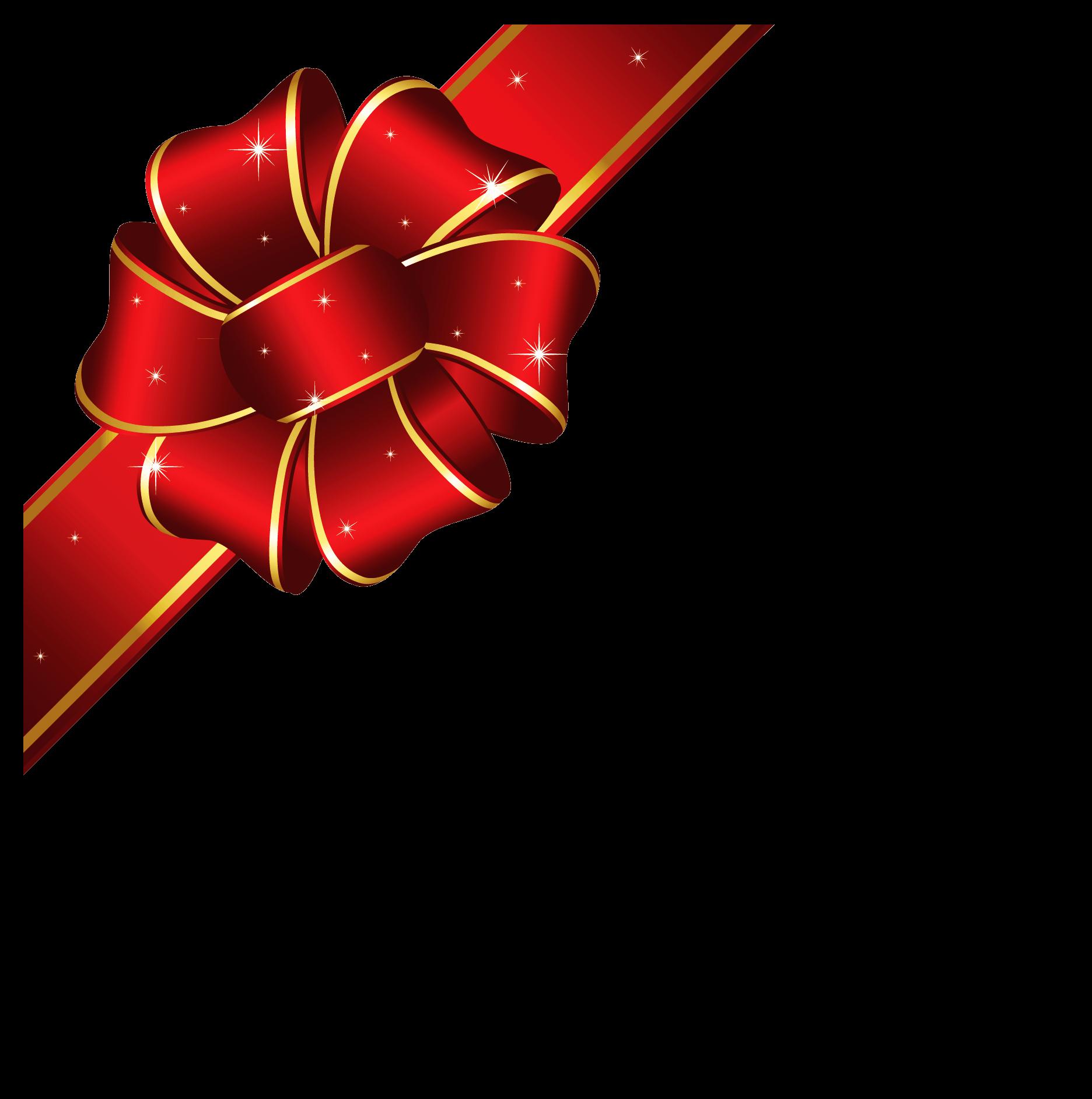1872x1884 Christmas Ribbon Cliparts