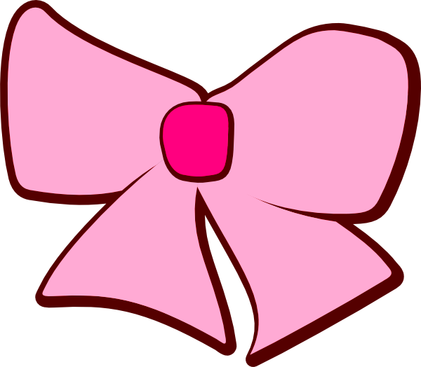 600x524 Pink Brown Bow Clip Art
