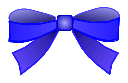 531x344 Blue Bow Clipart