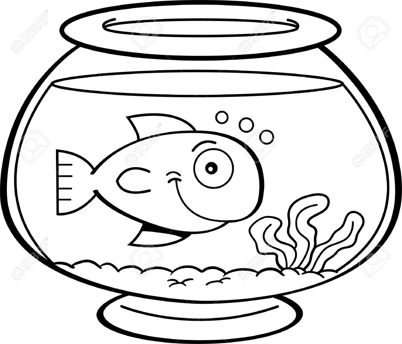 1300x1111 Fish Bowl Clipart Bowl Drawing