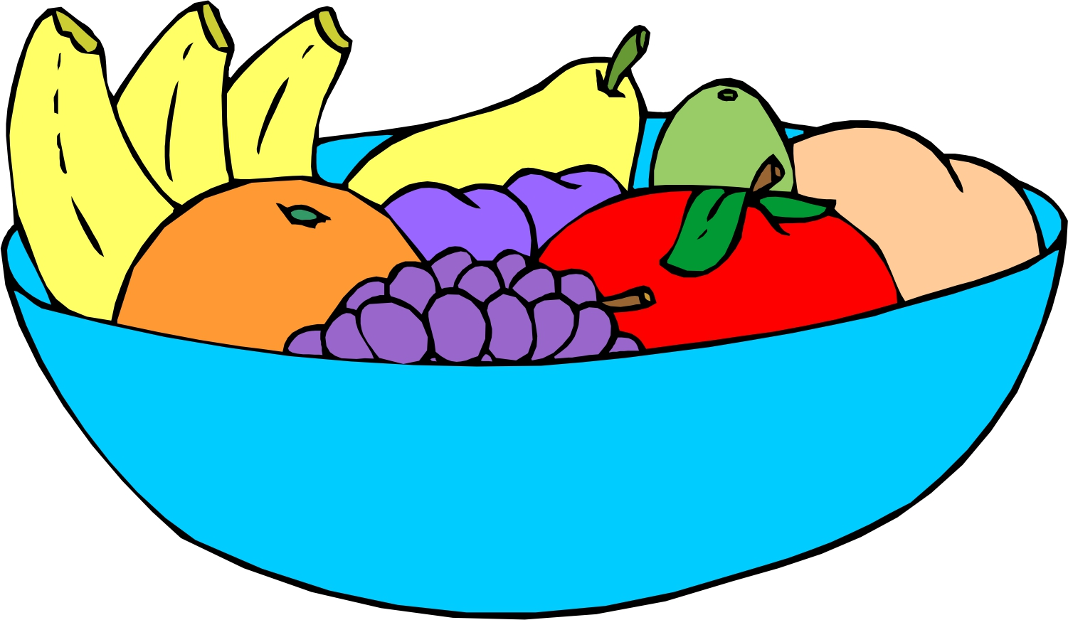 1501x872 Bowl Of Fruit Clipart