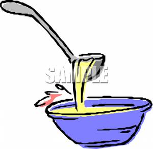 300x293 Soup Ladle And A Bowl Of Soup