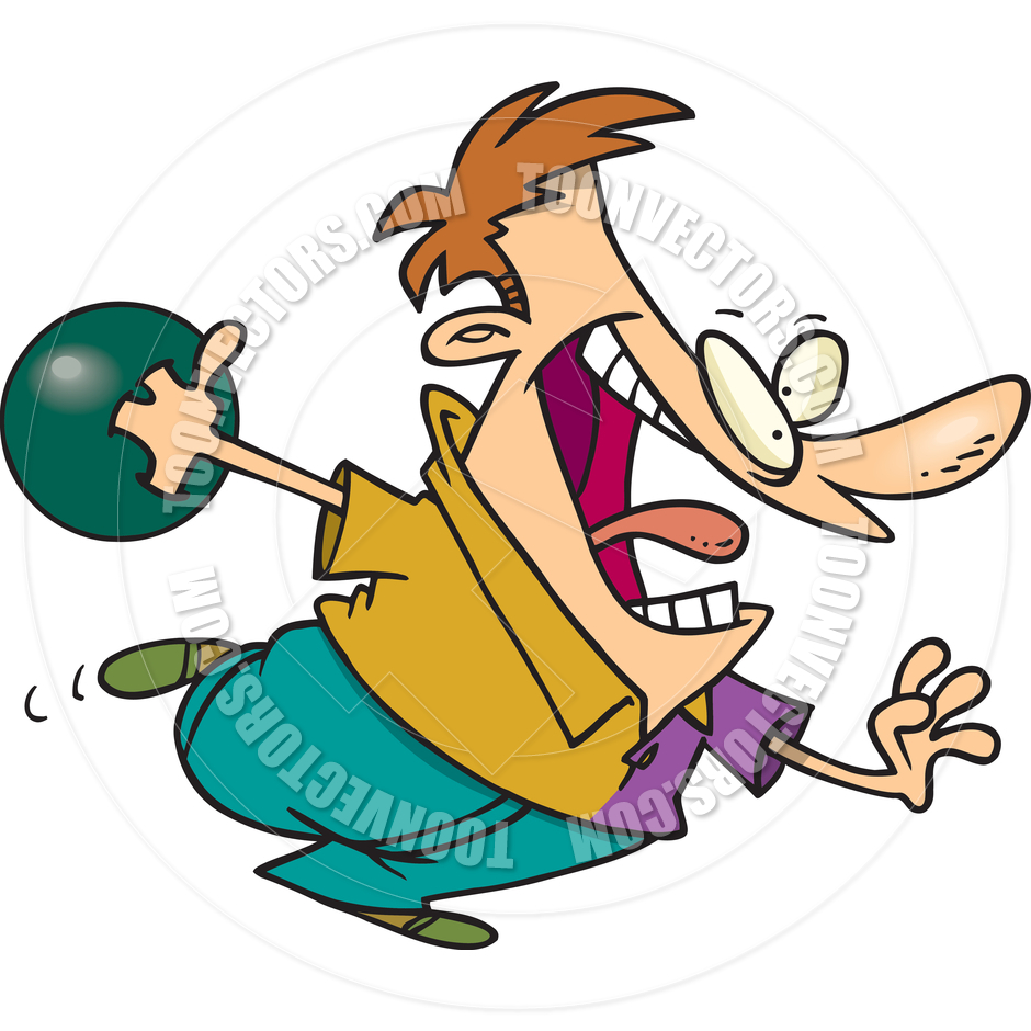 940x940 Cartoon Bowler By Ron Leishman Toon Vectors Eps