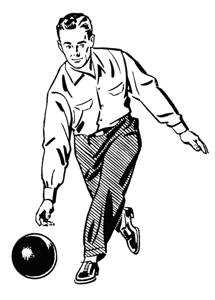 736x1025 Clipart Bowling Bowling Clip Art Retro Clip Art Woman And Man