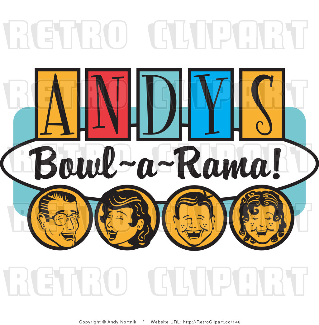 1024x1044 Royalty Free Retro Vector Clip Art Of An Andy's Bowl A Rama Sign