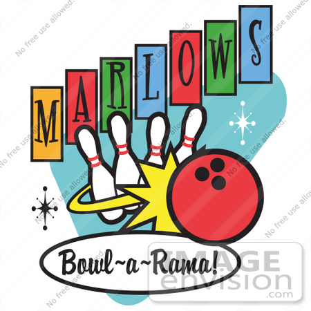 450x450 Royalty Free Cartoon Clip Art Of A Red Bowling Ball Crashing Into