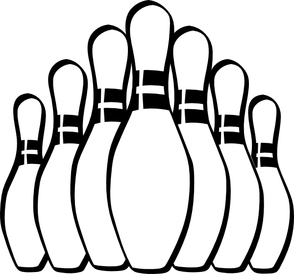 600x560 Bowling Pins Clip Art