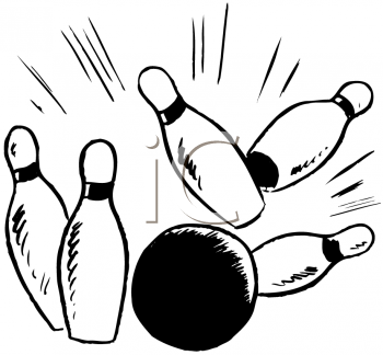 350x324 2 Ball And Bowling Pins Clipart