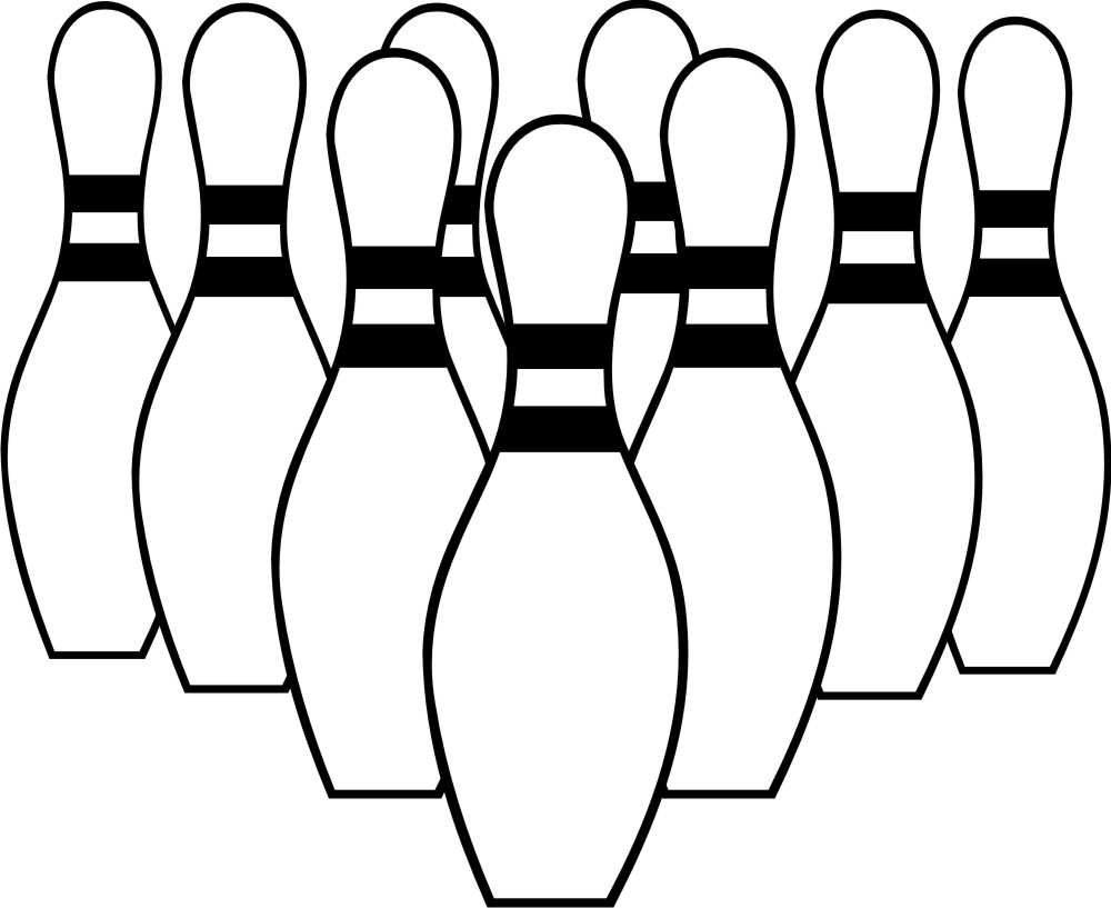 1000x817 Bowling Clipart Black And White