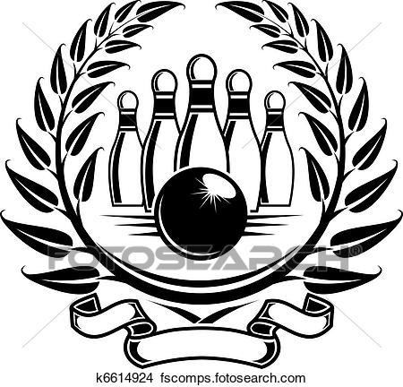 450x432 Clipart Of Bowling Symbol K6614924
