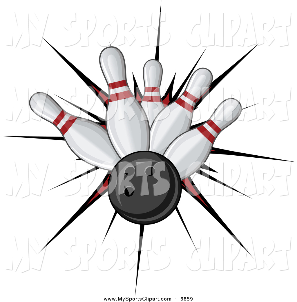 1024x1044 Sports Clip Art Of A Bowling Ball Smashing Into Pins By Vector