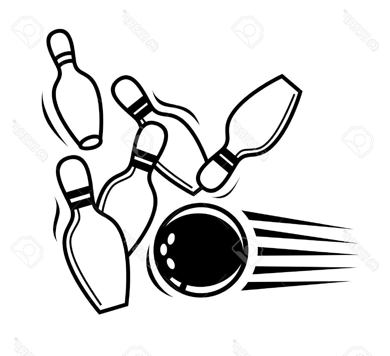 1300x1188 Best Hd Vector Black Bowling Icon On White Background Stock Pictures