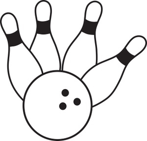 300x288 2 Ball And Bowling Pins Clipart