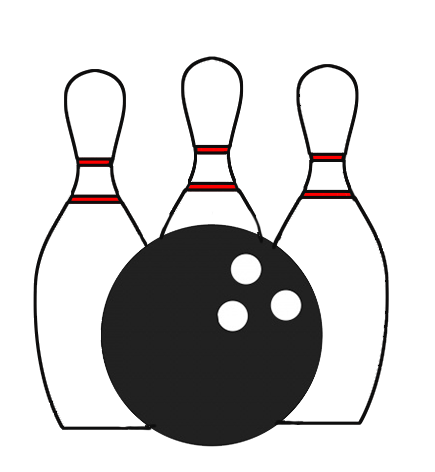435x472 Bowling Clipart Ball Game