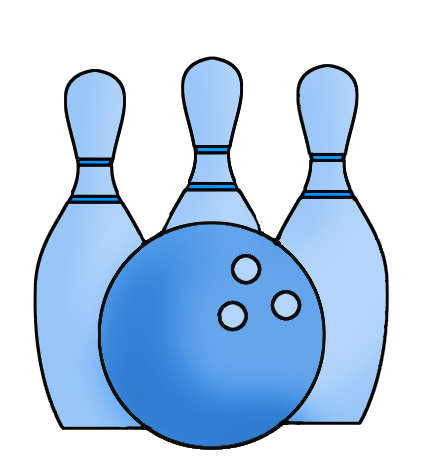 435x472 Bowling Clipart