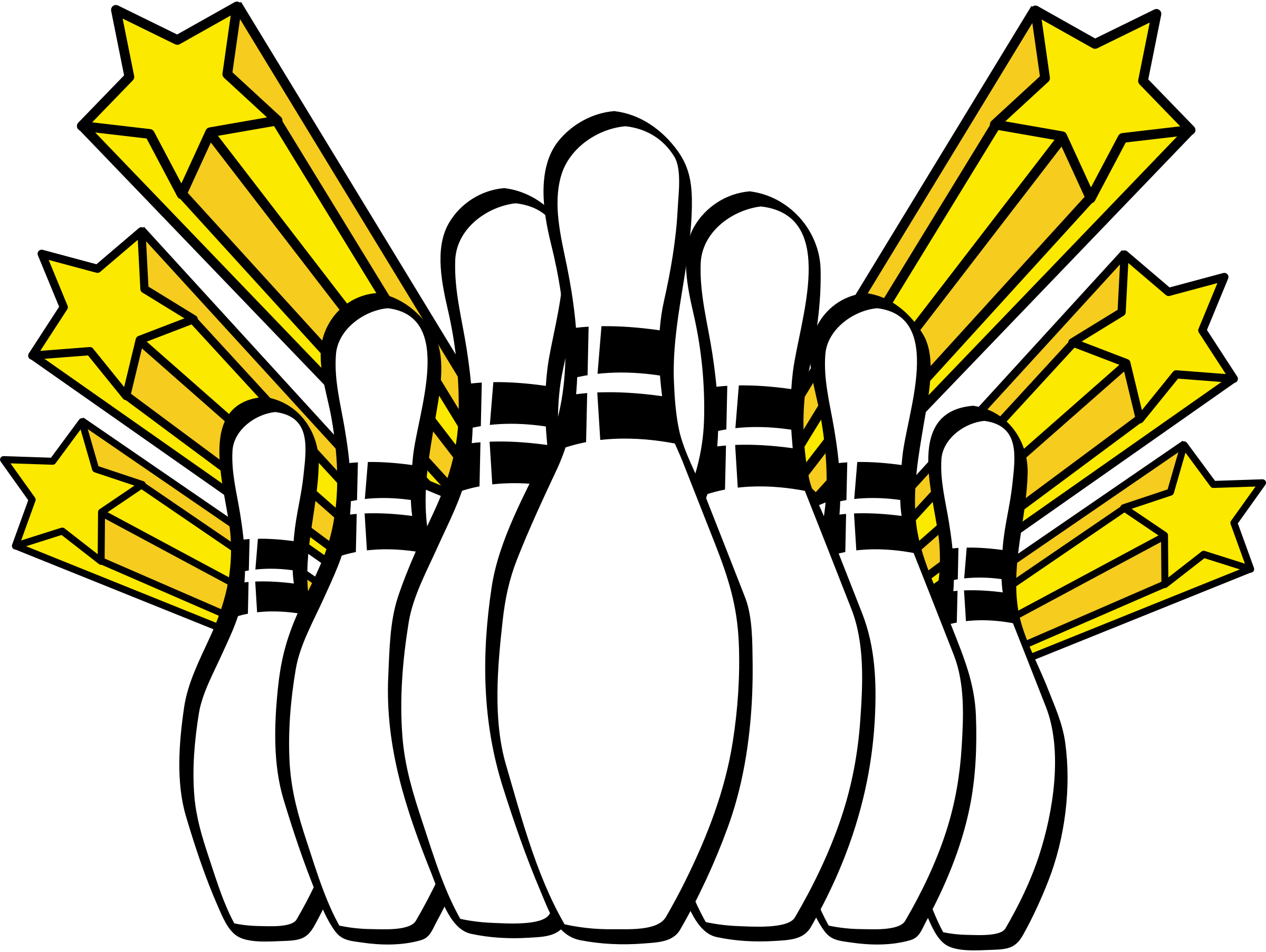 2400x1805 Bowling Pins Clip Art