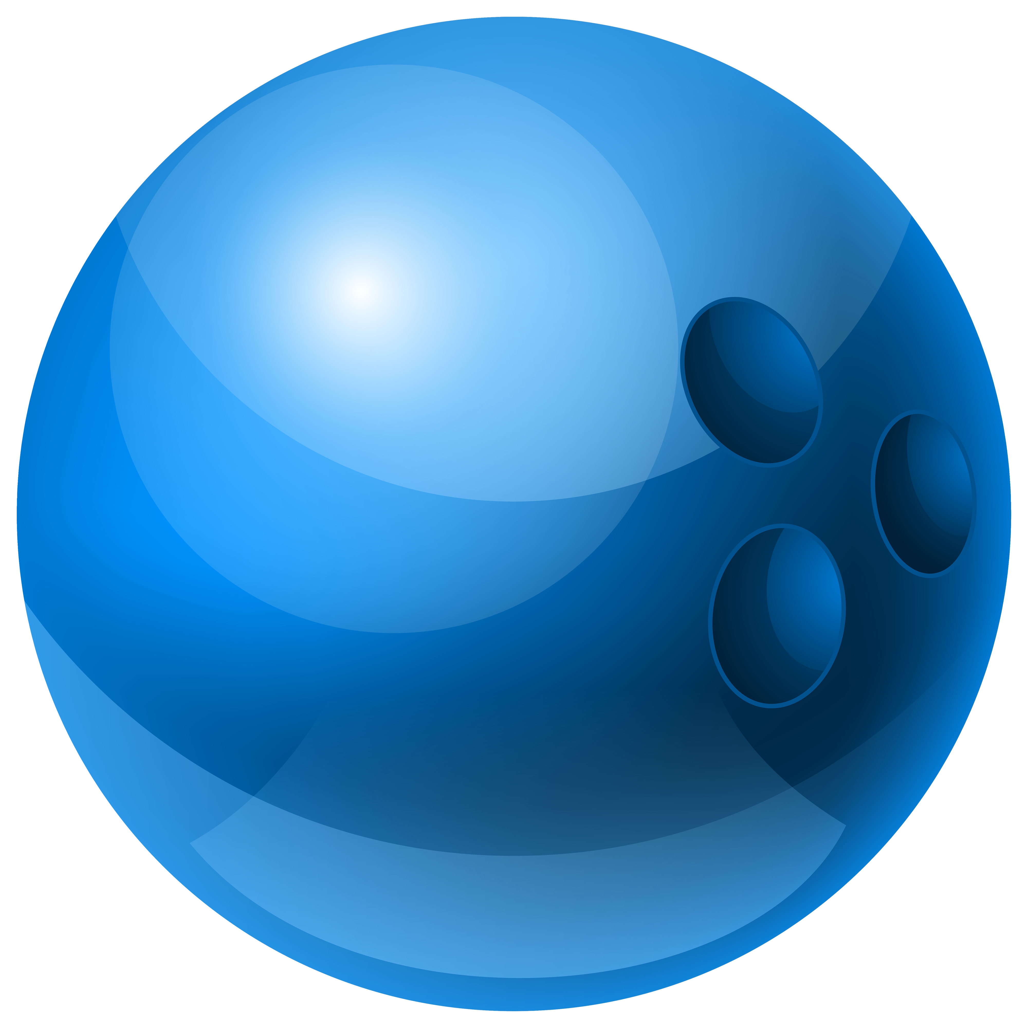 4000x4000 Blue Bowling Ball Png Clipart