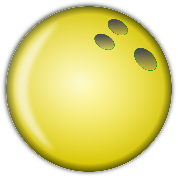 600x600 Bowling Ball Large Yellow Recreation Sports Bowling Clip Art Image