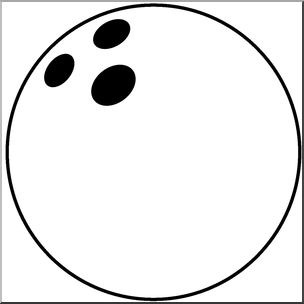 304x304 Clip Art Bowling Ball Bampw I Abcteach