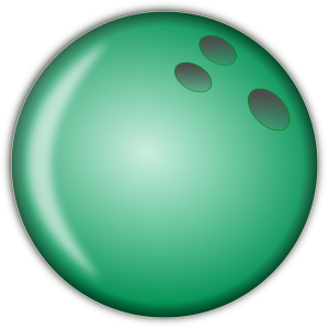 300x300 Bowling Ball Large Green Clip Art Download