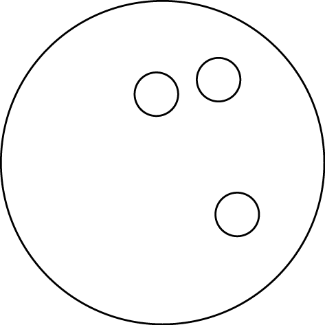 473x473 Bowling ball black clipart image