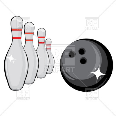 400x400 Skittles And Black Bowling Ball Royalty Free Vector Clip Art Image