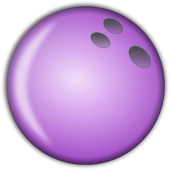 600x600 Bowling Ball Large Purple