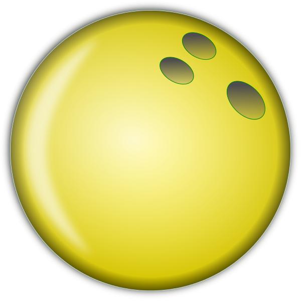 600x600 bowling ball large yellow