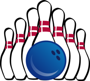 299x267 Bowling Ball And Pins Clip Art