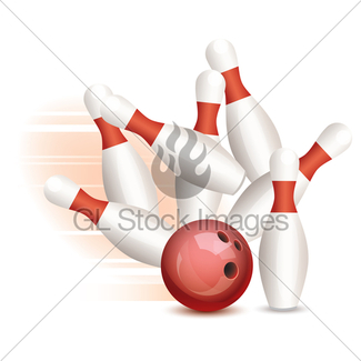 325x325 Bowling Ball And Pins Gl Stock Images