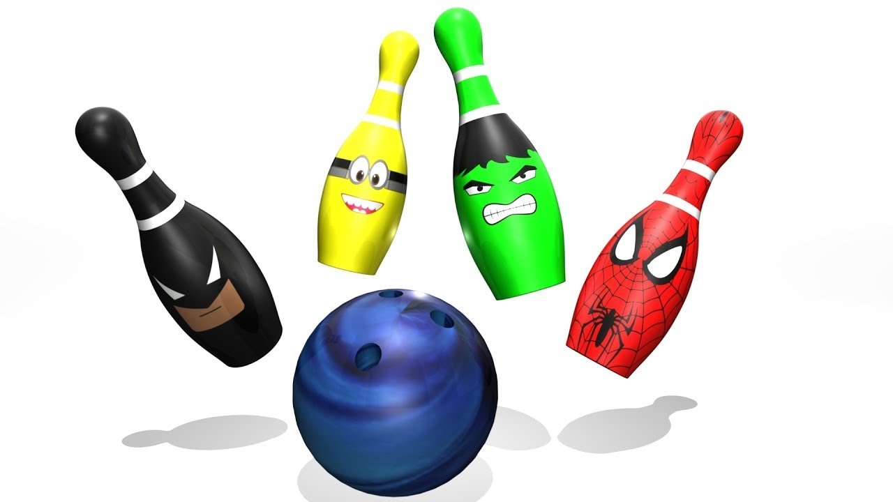 1280x720 Learn Colors And Numbers With Bowling Balls Superhero For Children