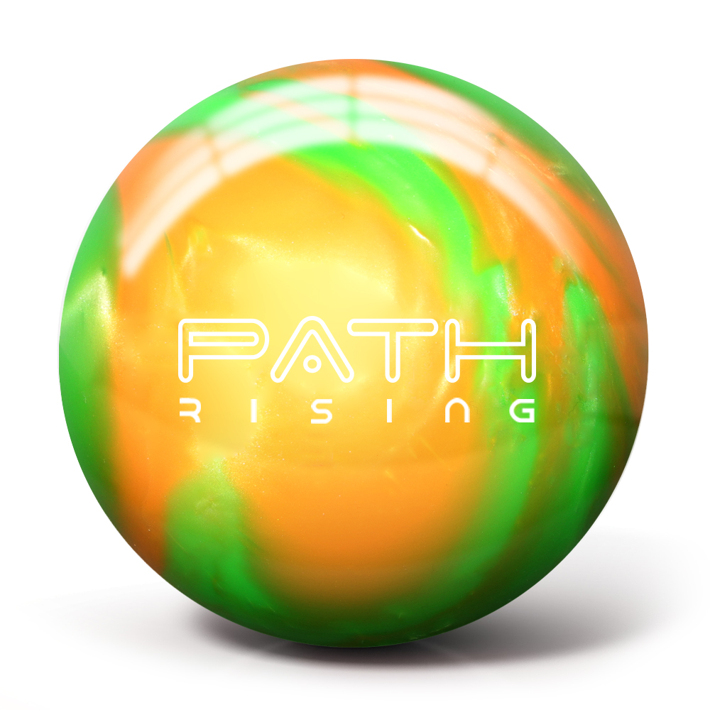 1000x1000 Path Rising Pearl Bowling Ball Orangelime Green Pyramid Bowling